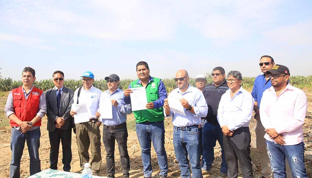 Sullana: alcalde Power Saldaña entrega terreno al consorcio ejecutor de la PTAR - El Regional