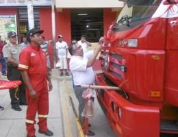 bomberos bellavista con nueva unidad